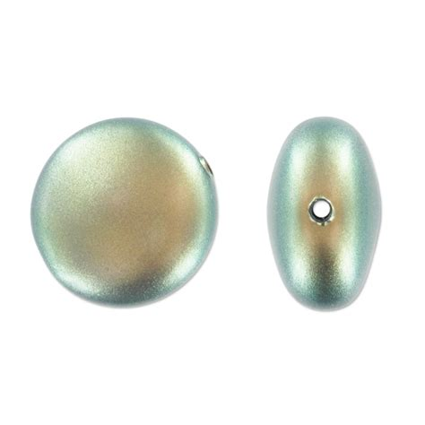 green pearl swarovski 5860 coin pearl 16mm iridescent green pearl