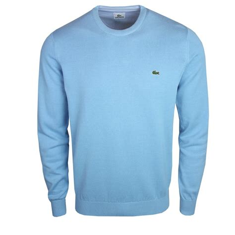 lacoste knitted jumper lacoste ah7924 knit crew neck jumper 6y2 blue