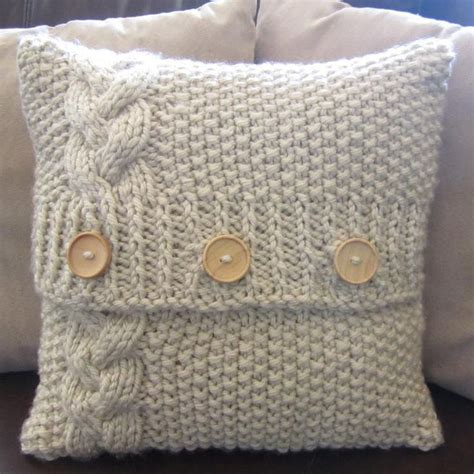 how to knit a pillow best 25 knitted pillows ideas on knit pillow
