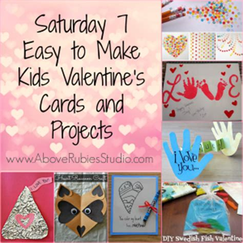 easy to make valentines cards saturday 7 easy to make valentines cards