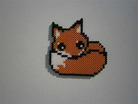 perler bead fox a fox perler i made foxes