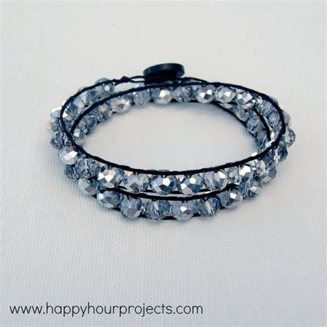 how to make beaded braclets wrap bracelet happy hour projects