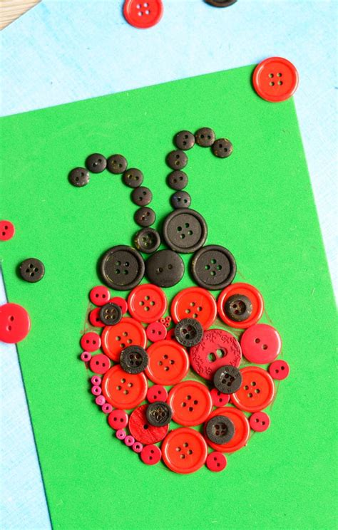 and crafts ladybug button craft easy peasy and