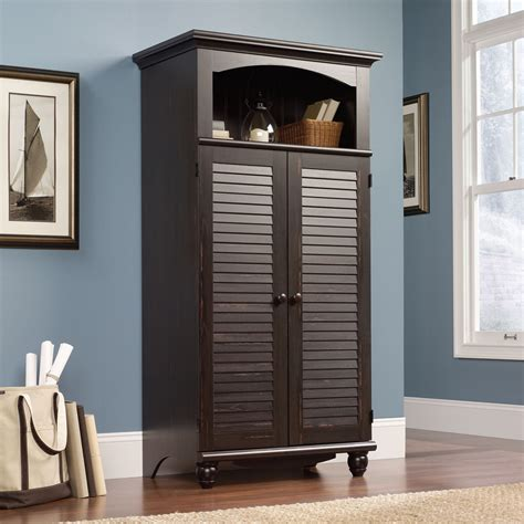 computer armoire furniture sauder 138070 harbor view computer armoire the