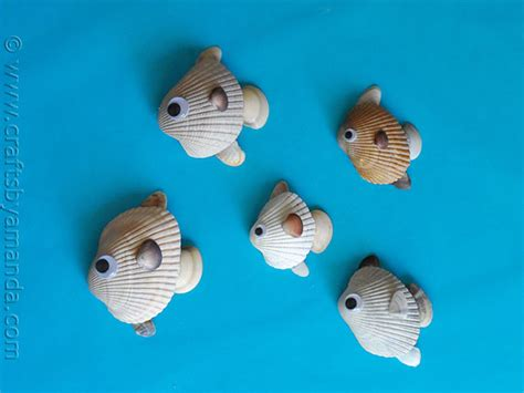 shell crafts for seashell crafts for preschool