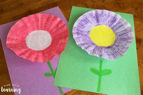 coffee filter crafts for easy coffee filter flower craft look we re learning