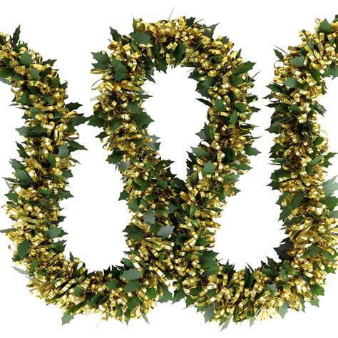 pre lit garland pre lit 2m tinsel light garland with