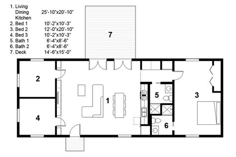 ranch style house plan 3 beds 2 baths 1276 sq ft plan