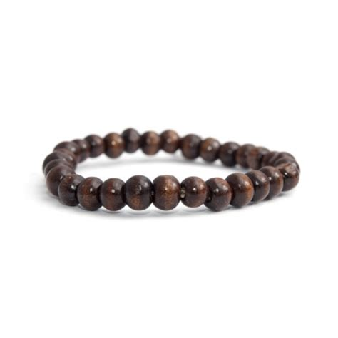 brown bead bracelet brown wood bead bracelet for