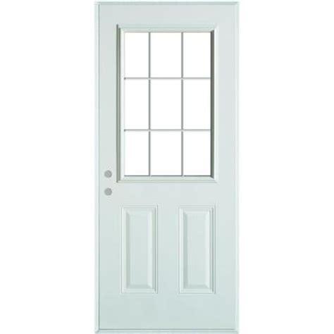 9 light exterior door stanley doors 32 in x 80 in colonial 9 lite 2 panel