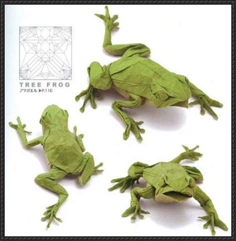origami tree frog new paper craft japanese tree frog origami tutorial free
