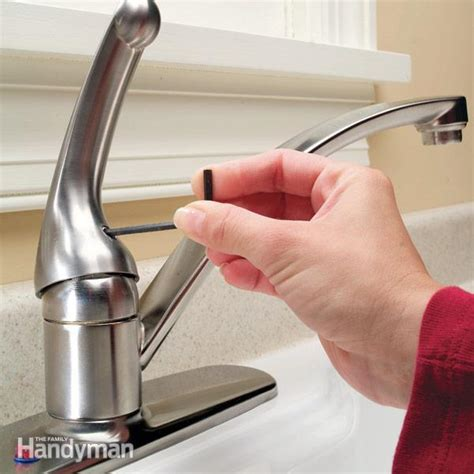 how replace kitchen faucet how to repair a single handle kitchen faucet the family handyman