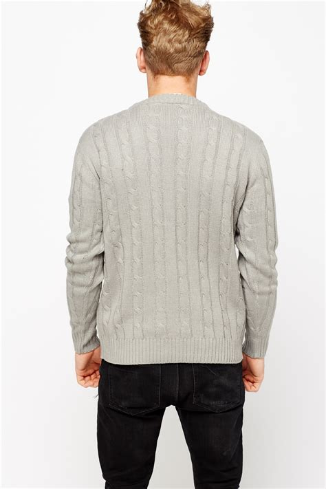 next cable knit jumper cable knit ribbed mens jumper just 163 5