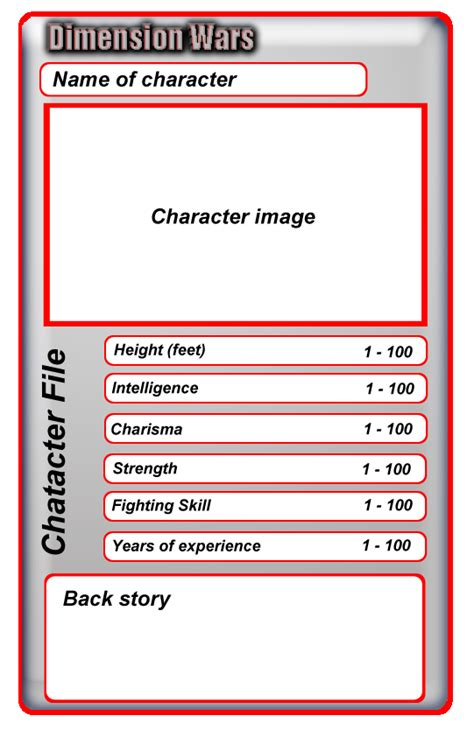 make your own top trumps cards dimension wars top trumps card template updated by