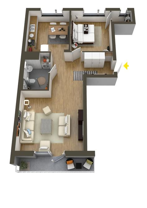 house design layout small bedroom 40 more 1 bedroom home floor plans