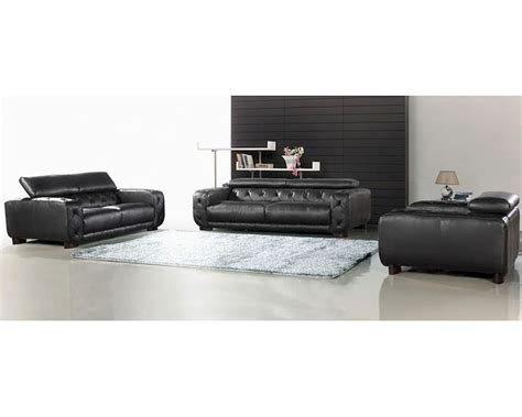 tufted leather sofa set black italian leather tufted sofa set 44l6097