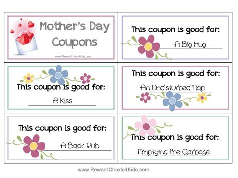 mothers day picture books free coupon book for customize print at home