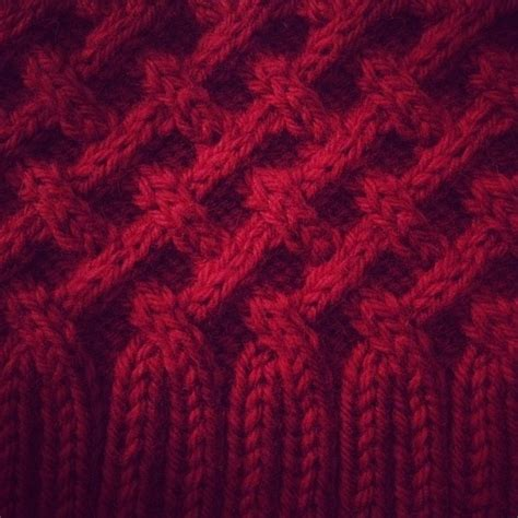 rib knit structure cross hatch cable 2x2 structure knitted after