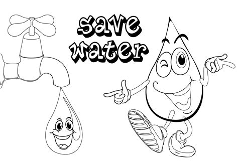 how to color water free coloring pages of save the water