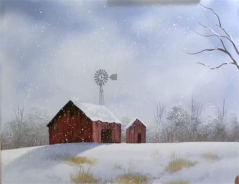 bob ross painting barns december barn part 1 from the set of wilson bickford s