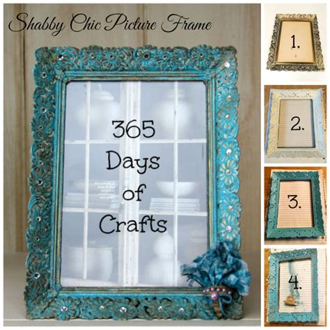 diy shabby chic picture frame 365 days of crafts diy