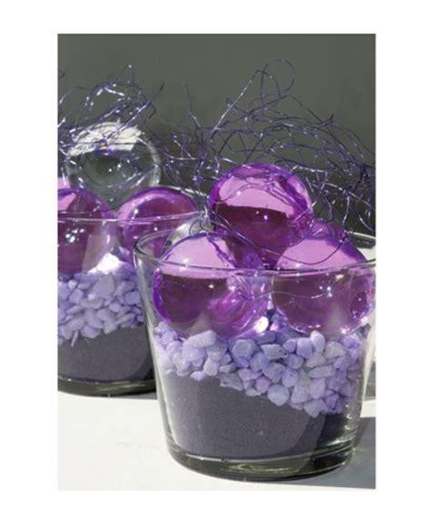 purple water centerpieces silk floral arrangements