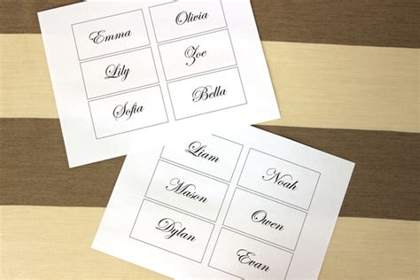 make place cards free easy and diy flower place cards for your wedding