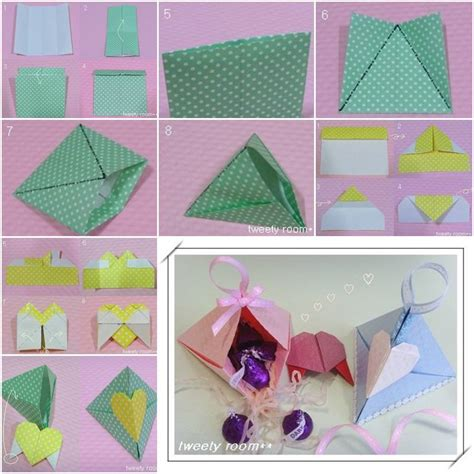 how do you make origami boxes diy origami triangle lock gift box
