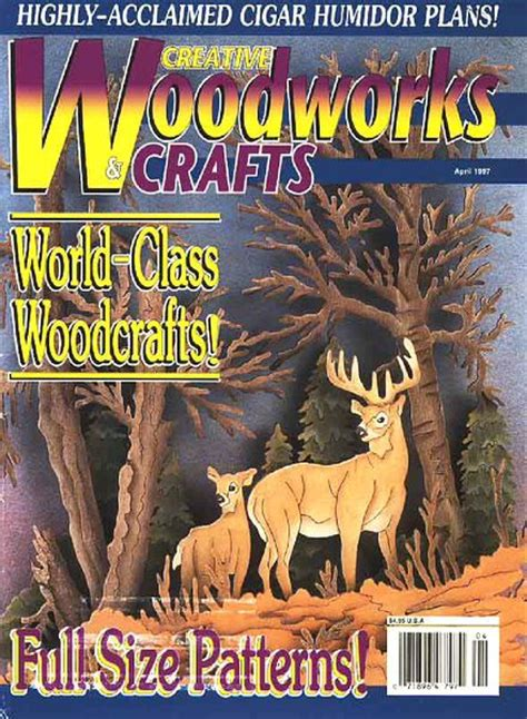 creative woodworking magazine creative woodworks crafts issue 46 april