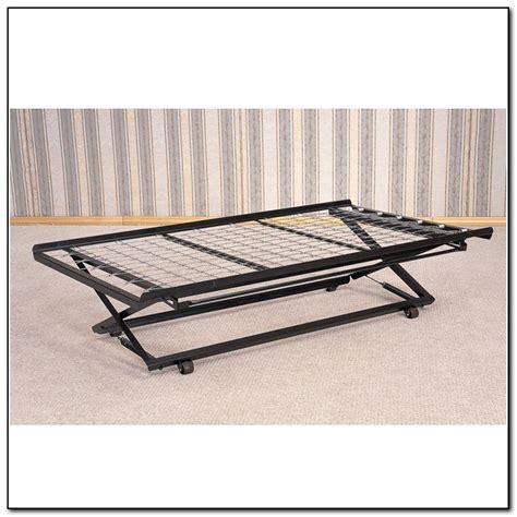 trundle bed frame pop up pop up trundle bed frame beds home design ideas