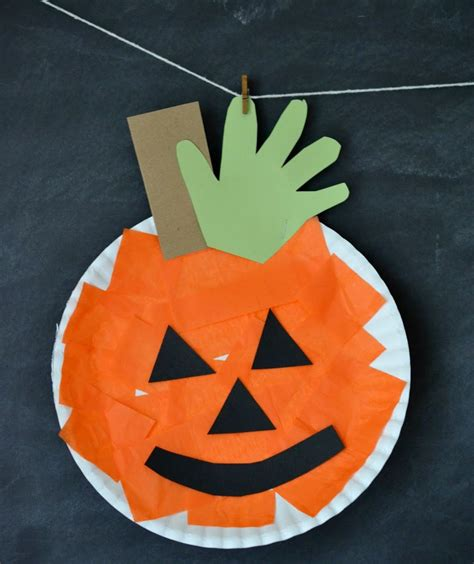 paper pumpkin crafts for o lantern ideas real simple