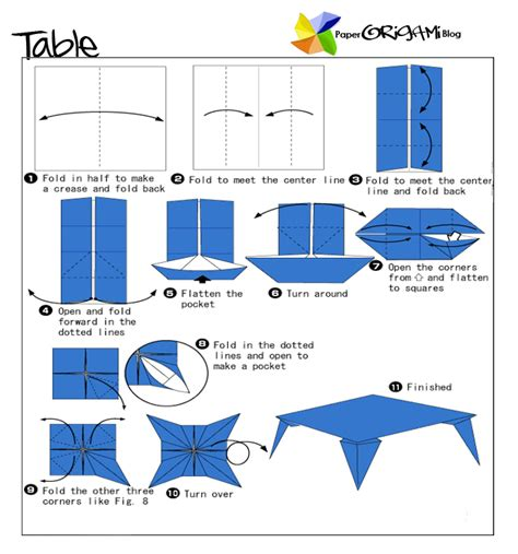 how to make an origami table furnitures origami a table paper origami guide