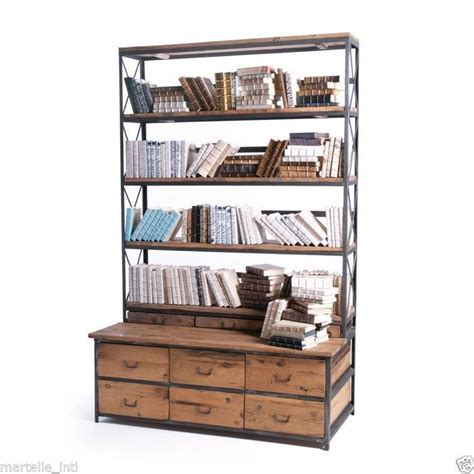 cabinet bookshelves bookcase display cabinet industrial mercantile style new