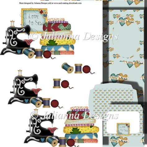 free decoupage downloads for card i to sew decoupage set 163 1 00 instant card