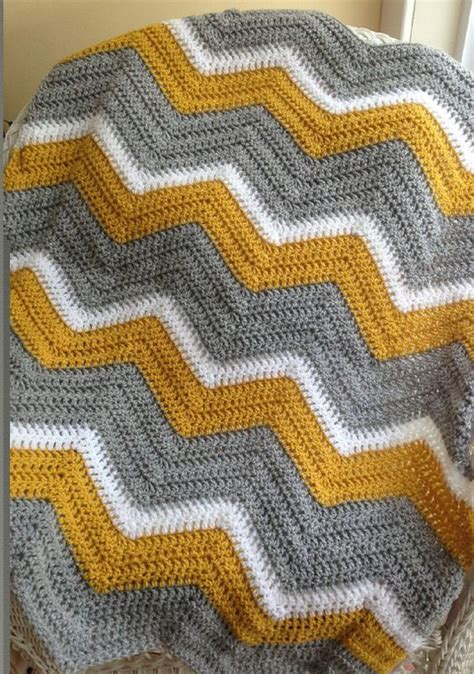 knitted ripple baby blanket baby blanket afghan wrap new chevron zig zag ripple