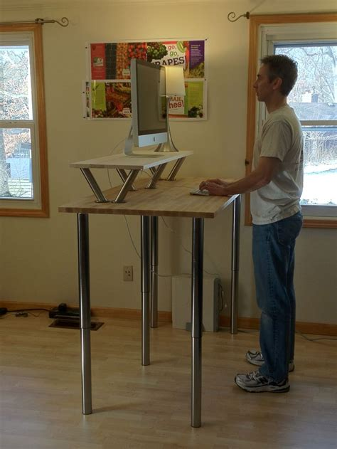 standing desk idea best 25 standing desks ideas on computer desk