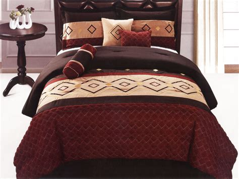 southwestern comforter set 7 pc quilted embroidered southwestern style