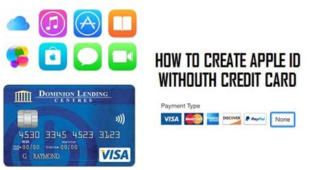 how to make credit cards how to create apple id without credit card