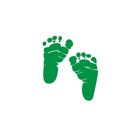 baby footprint rubber st items similar to 10 sets of leprechaun green baby