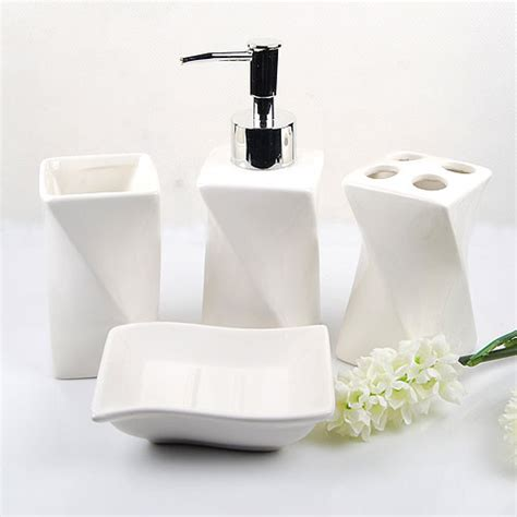 bathroom accessories white white bath accessories set