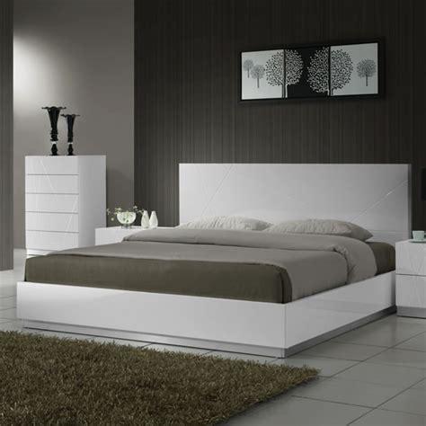 beds white white modern platform bed modern furniture chicago