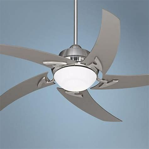 nickel ceiling fan with light 52 quot casa vieja brushed nickel ceiling fan with light