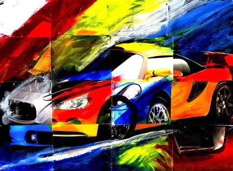 Car Collage Wallpaper car collage by drawnron on deviantart