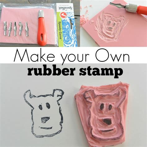 make a custom rubber st make your own st diy tutorial decor and the