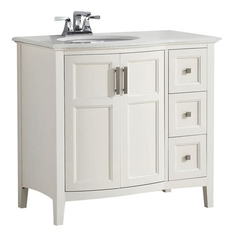 birch bathroom vanity shop simpli home winston soft white undermount single sink