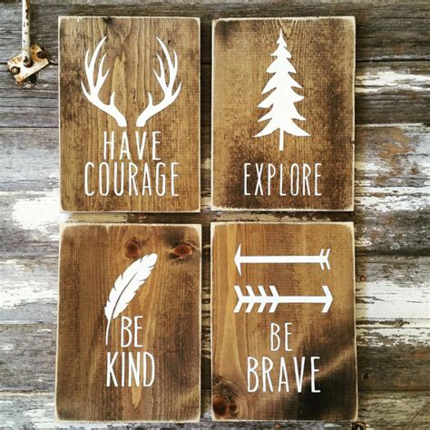 woodland nursery decor rustic decor cottage home decor