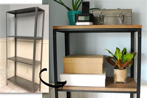 hack ikea ikea hack wood and metal bookshelf real happy space