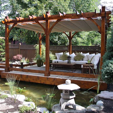 lowes pergola canopy outdoor living today bz1220wrc 12 ft x 20 ft
