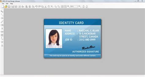 identity card software free free blank identity card excel format