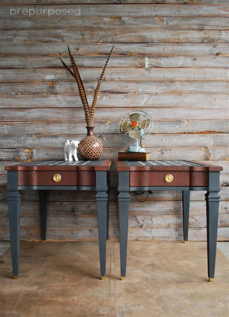 chalk paint youngstown ohio how to create script two toned end tables hometalk